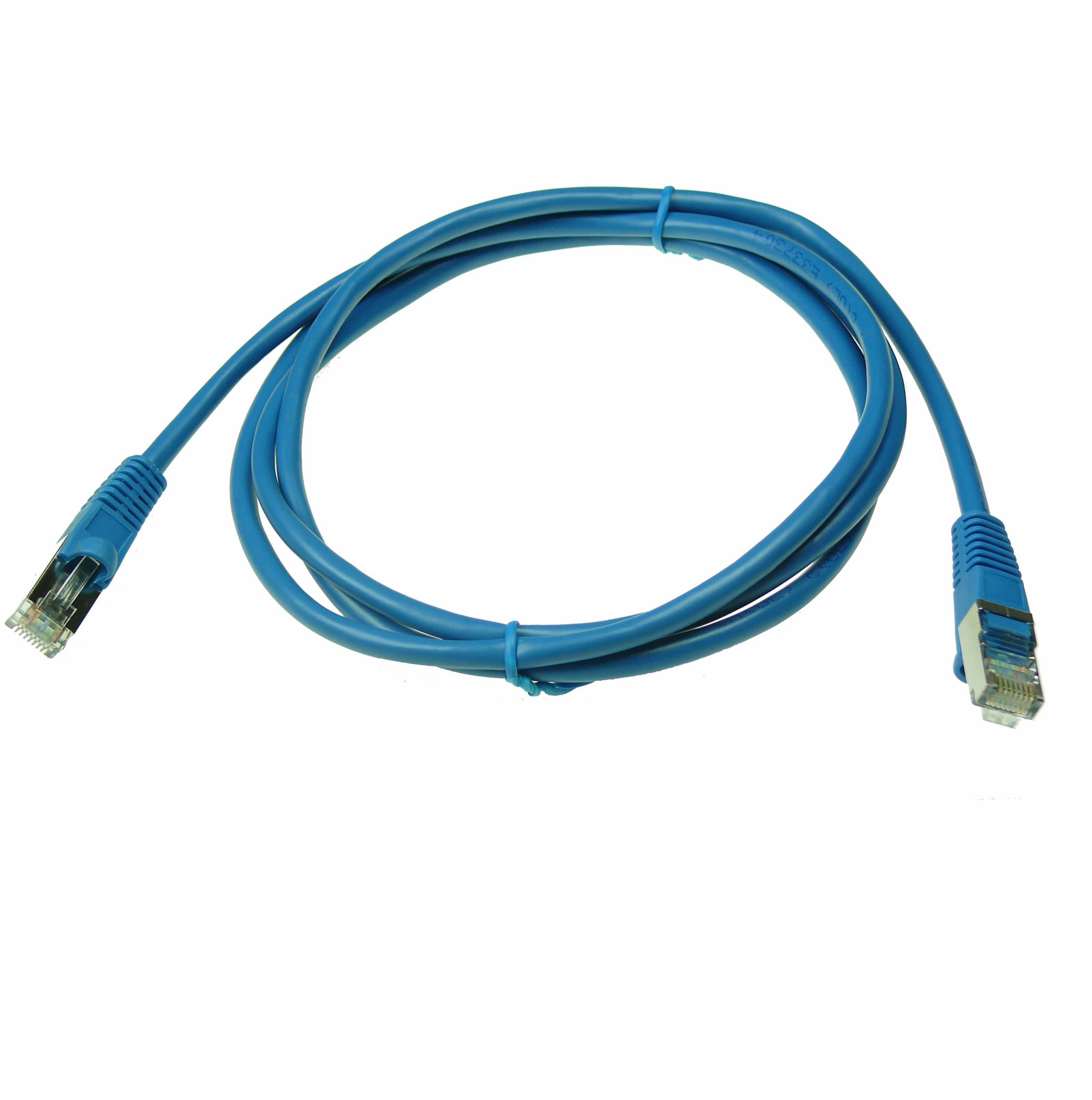Axiom C6MBSFTPB50-AX 50ft Cat6 550MHz S//FTP Shielded Patch Cable Molded Boot Blue